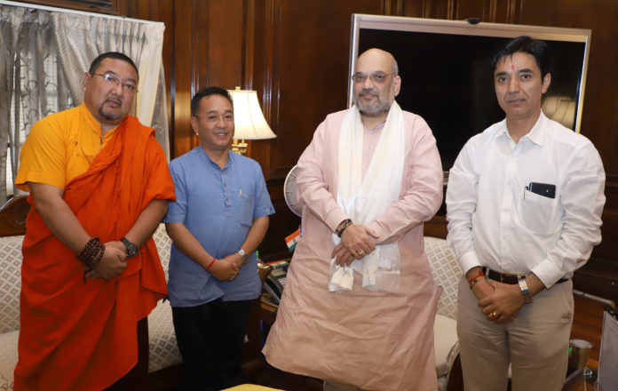 The Chief Minister of Sikkim, Shri Prem Singh Tamang meeting the Union Home Minister, Shri Amit Shah, in New Delhi on August 17, 2019.
