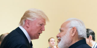 US President Donald Trump and Indian PM Narendra Modi File Picture