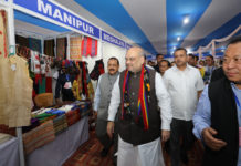 The Union Home Minister, Shri Amit Shah reviewing the North East Handloom and Handicraft Exhibition, in Aizawl, Mizoram on October 05, 2019. The Minister of State for Development of North Eastern Region (I/C), Prime Minister's Office, Personnel, Public Grievances & Pensions, Atomic Energy and Space, Dr. Jitendra Singh is also seen.