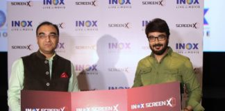 Mr. Amitava Thakurta, Regional Director INOX– East , Bengal's Superstar Prasenjit Chatterjee the launch of BENGAL'S FIRST MULTI-PROJECTION 270 DEGREE VIEWING EXPERIENCE