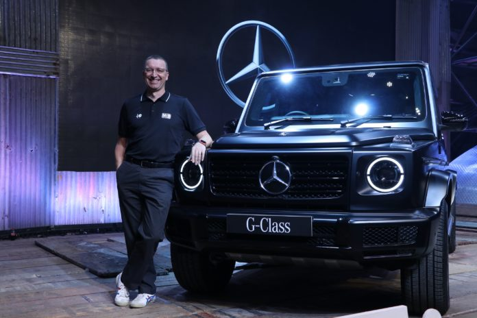 Mr. Martin Schwenk - MD & CEO - Mercedes-Benz India with the new G350d