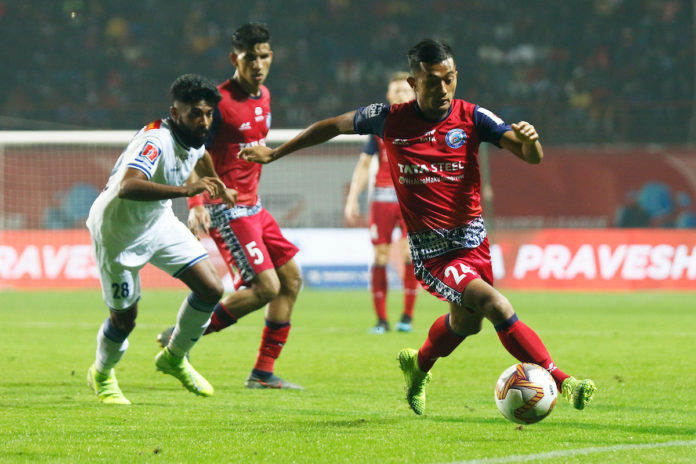Isaac Vanmalsawma of Jamshedpur FC during match 35 of the Indian Super League ( ISL ) between Jamshedpur FC and Chennaiyin FC held at the JRD Tata Sports Complex, Jamshedpur, India on the 9th December 2019. Photo by: Saikat Das / SPORTZPICS for ISL