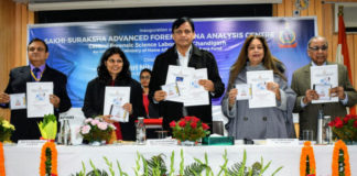 The Minister of State for Home Affairs, Shri Nityanand Rai releasing the publication at the inauguration of a State-of-the-Art DNA Analysis Centre, at CFSL, Chandigarh on December 23, 2019.