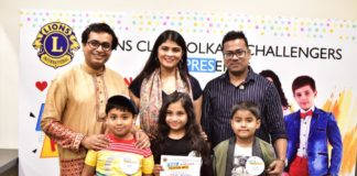 Mrs. India Worldwide East Aakanksha Manglani judges the Lions Club's Kids Fashion Week