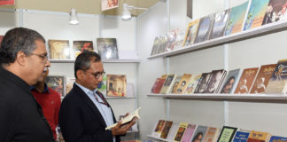 The Additional Secretary, Ministry of Information & Broadcasting, Shri Atul Kumar Tiwari visiting after inaugurating the stall of the Publications Division, during the New Delhi World Book Fair, at Pragati Maidan, in New Delhi on January 04, 2020.