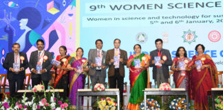 The Secretary (DARE) & Director General (ICAR), Dr. Trilochan Mohapatra releasing the publication at the 9th Women Science Congress, during the 107th Indian Science Congress, at University of Agricultural Sciences, in Bengaluru on January 05, 2020.