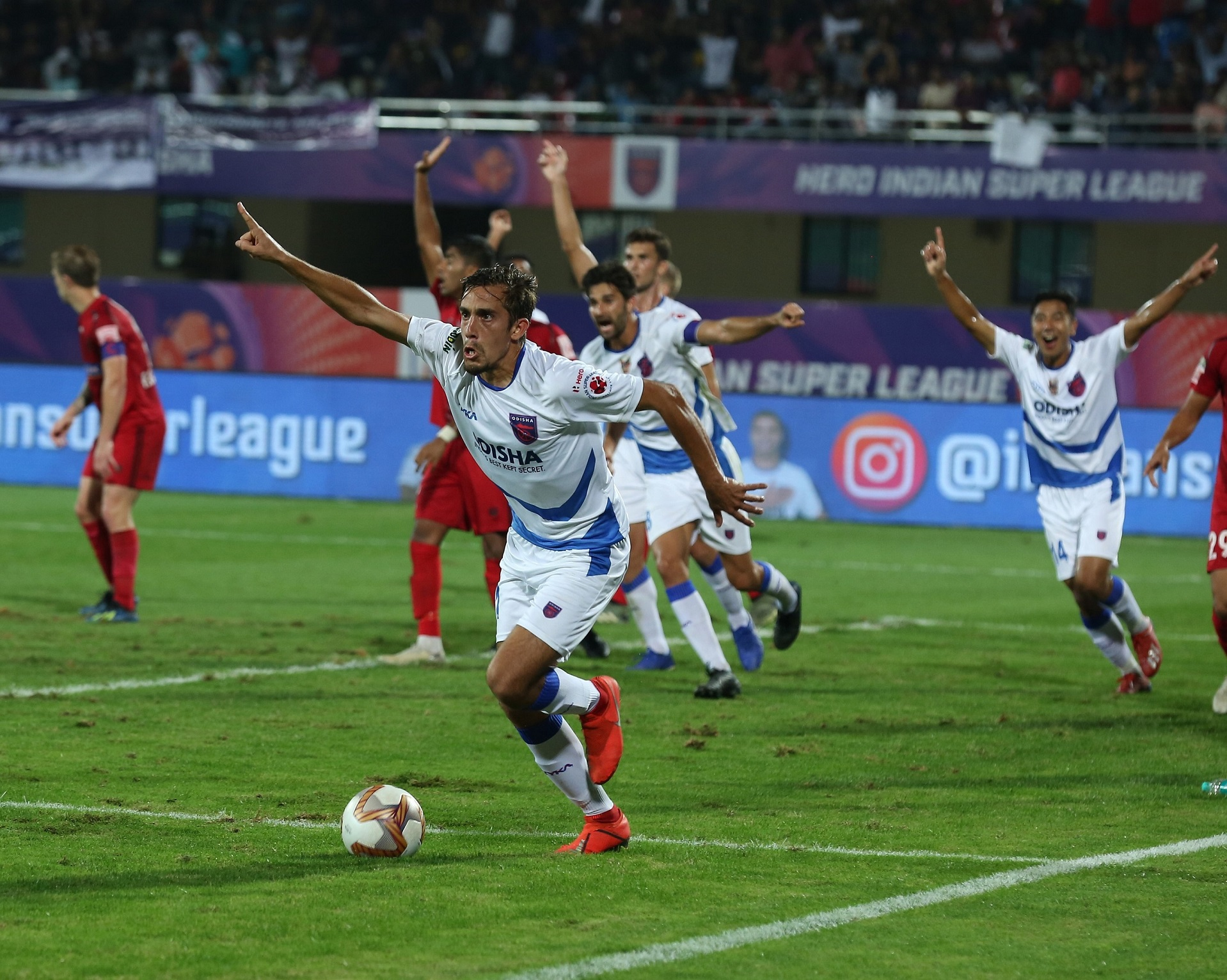 Martin Perez scored in the 72nd minute to hand all three points to Odisha FC in the Hero ISL on Friday.