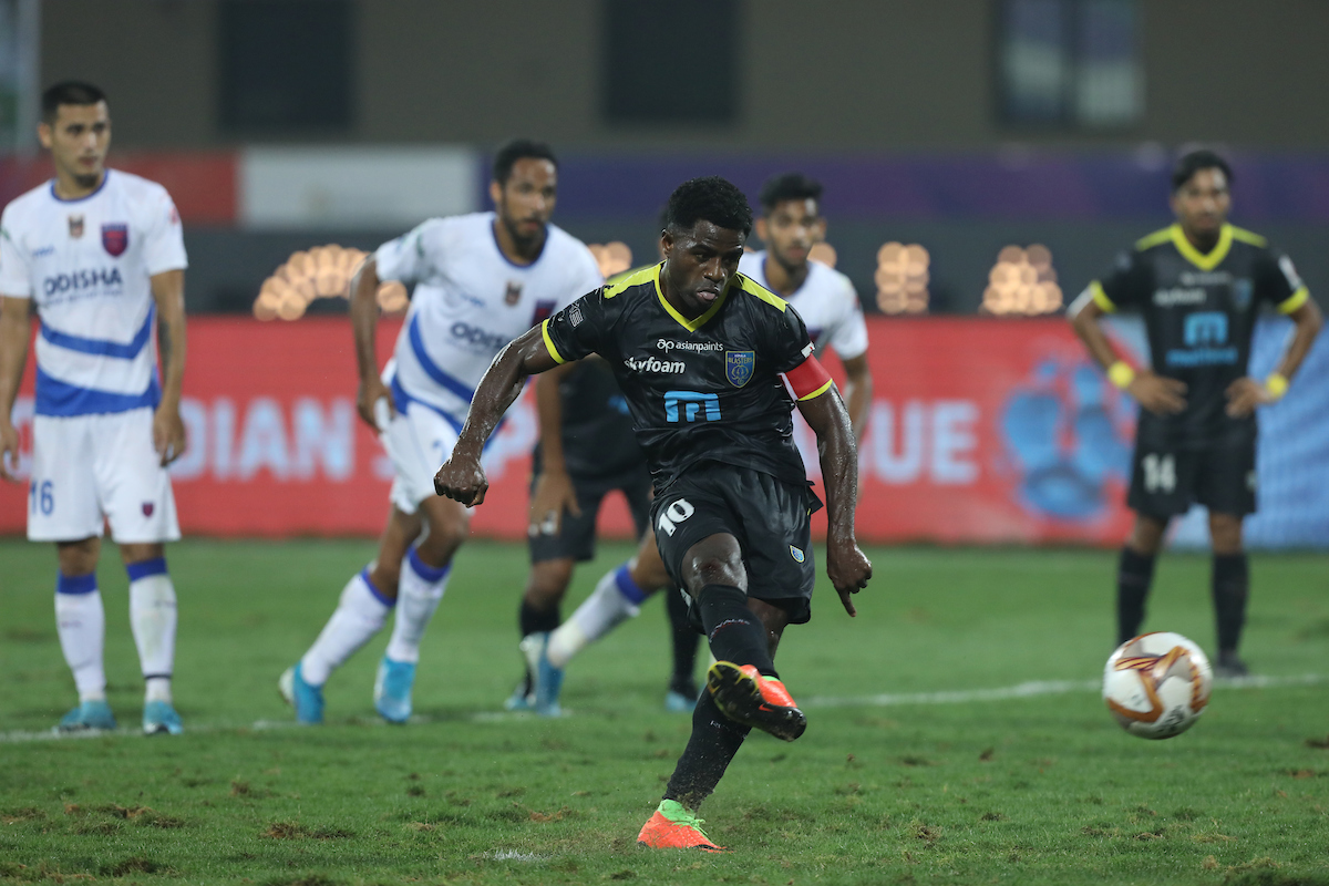 KBFC's Bartholomew Ogbeche made his way to the top of the Hero ISL Golden Boot race today with a brace against OFC in the Hero ISL today