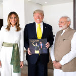 The Prime Minister, Shri Narendra Modi and the President of United States of America (USA), Mr. Donald Trump and First Lady Mrs. Melania Trump at Motera Stadium, in Ahmedabad, Gujarat on February 24, 2020.