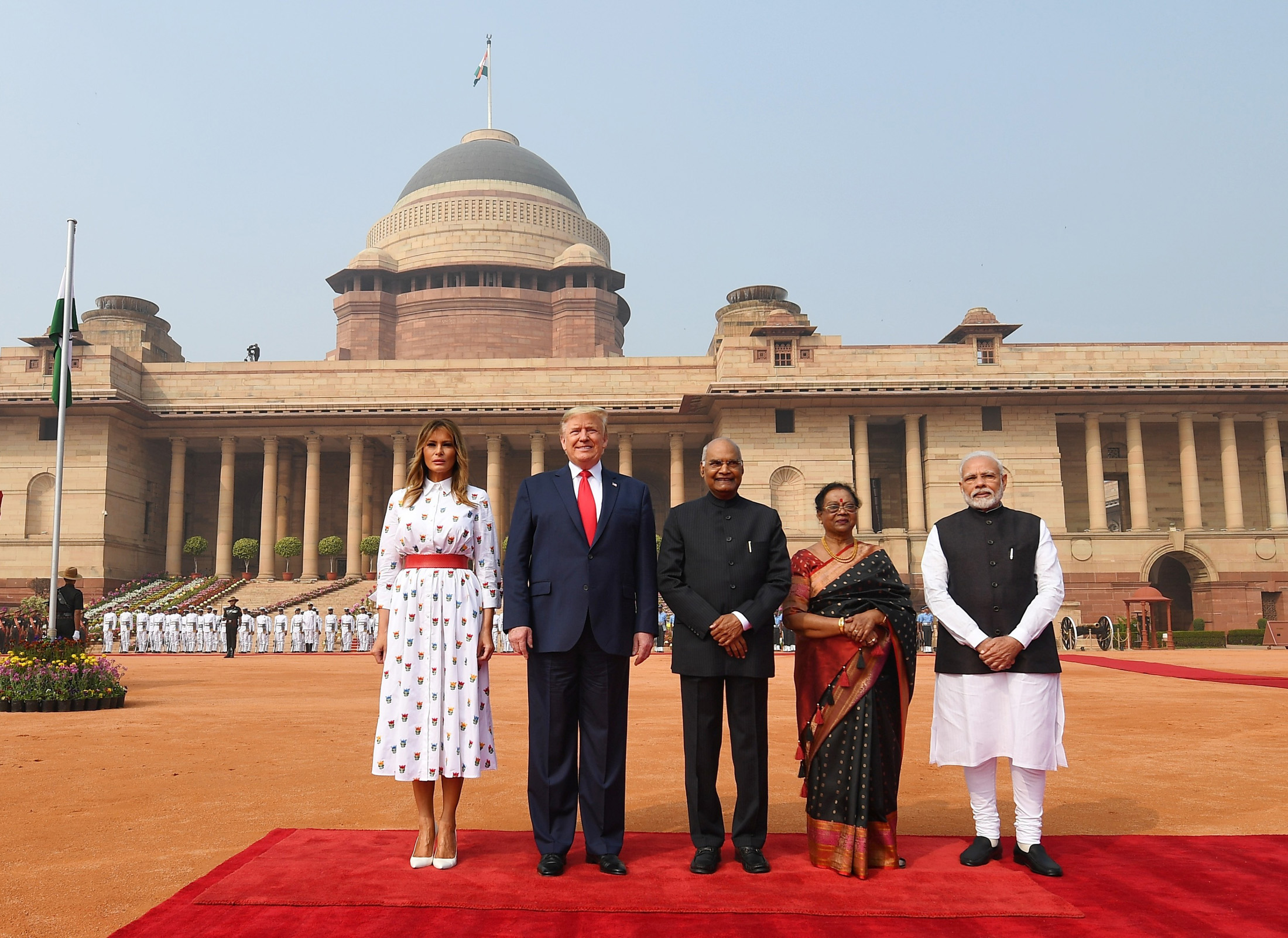 Namaste Trump Rajghat To Hyderabad House Eventful Day 2 In Indiaibg News Ibg News