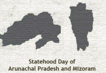 PM greets the people of Mizoram and Arunachal Pradesh, on their Statehood Day