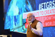 The Prime Minister, Shri Narendra Modi addressing the Economic Times Global Business Summit 2020, in New Delhi on March 06, 2020.