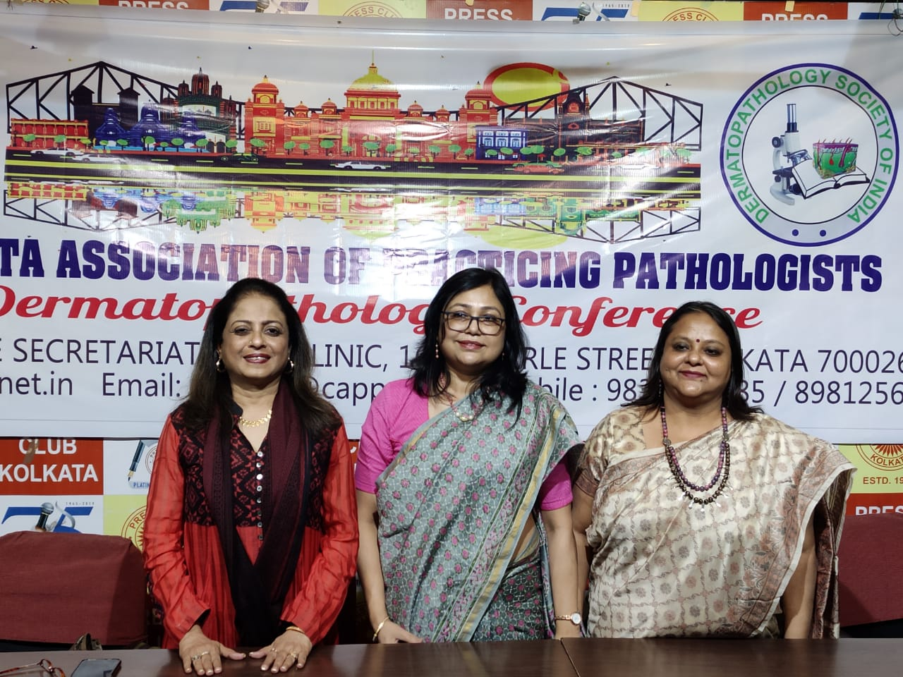Press meet for Dermatopathology conference on 14th & 15th March 2020 at Kolkata