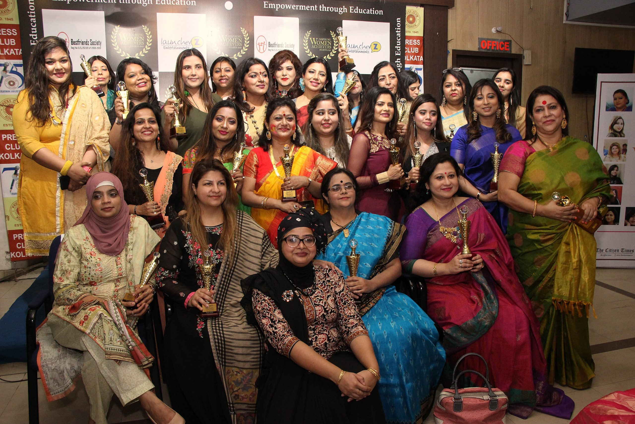 Women awardess from different section of society