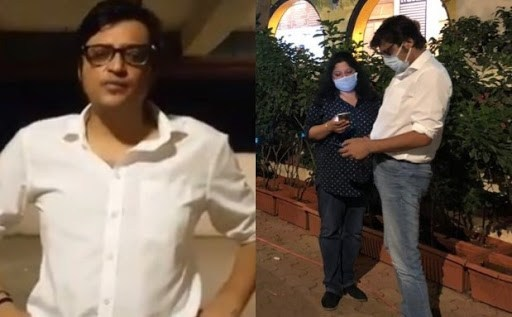 Arnab Goswami and Wife Attacked
