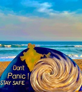 STAY ALERT .....STAY SAFE......Don't panic during #CycloneAmphan