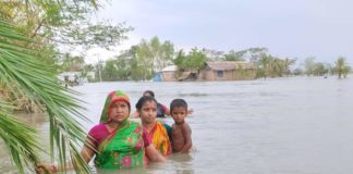Even after 27 days of Amphan violence, the tide is still flowing in the backyard of Satkhira coast of Bangladesh