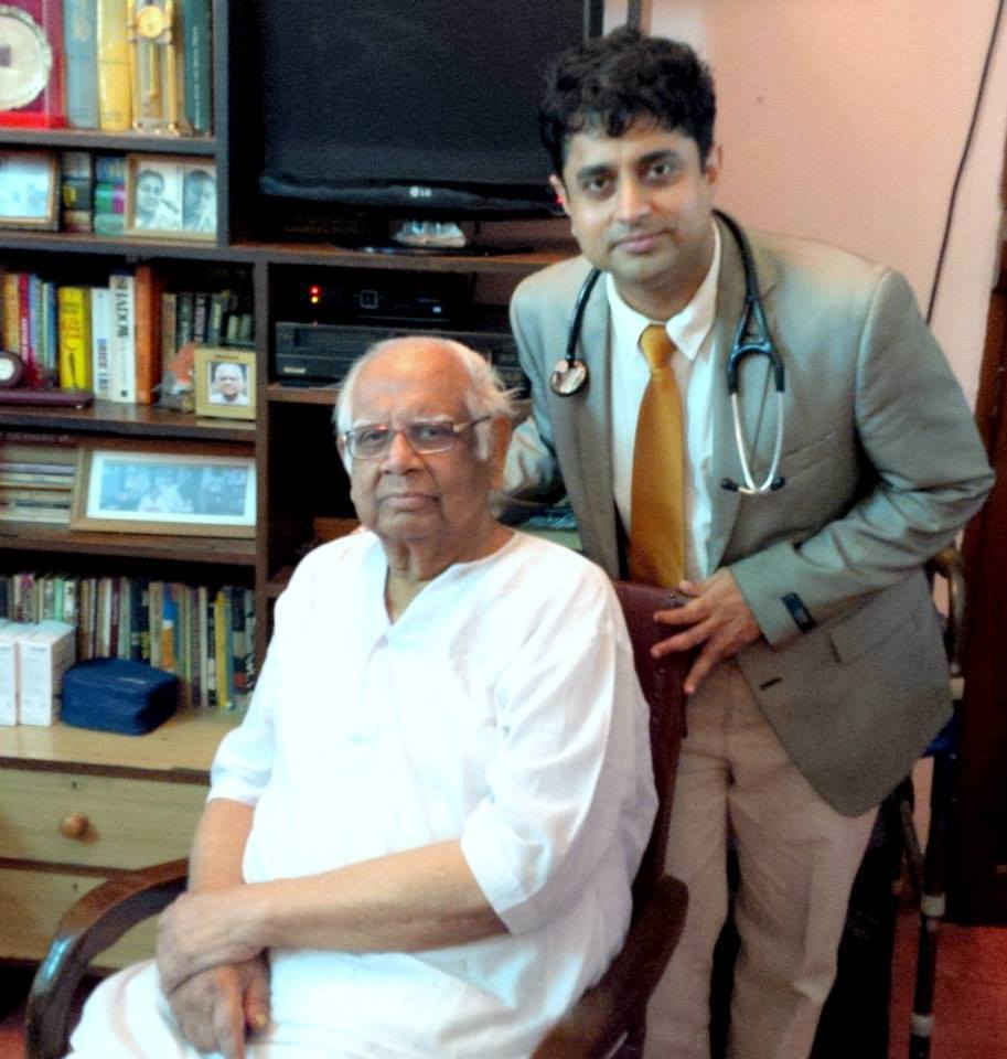 Dr. Partha Sarathi Mukherjee - With Loksabha Speaker Somnath Chatterjee