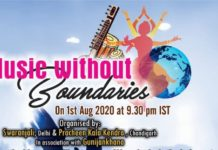 Subject:Music without boundaries on August 1st,2020 by Pracheen Kala Kendra Chandigarh