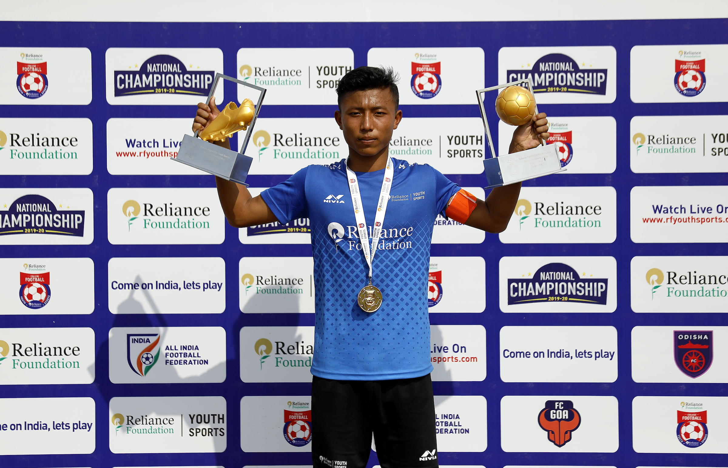IMPHAL BOY WON GOLDEN BALL & GOLDEN BOOT AT NATIONAL CHAMPIONSHIPS