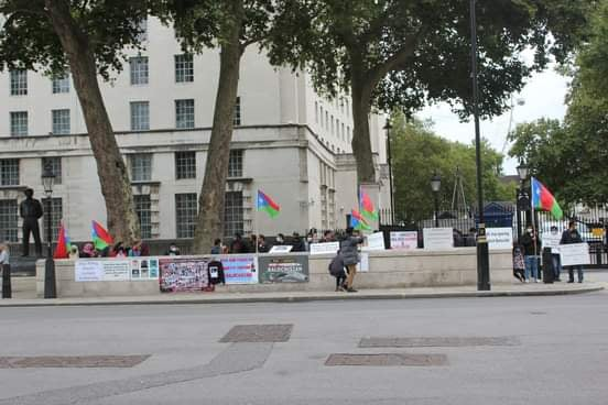 Balochistan Protesting at UK PM Office