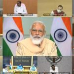 The Prime Minister, Shri Narendra Modi interacts with the Chief Ministers to discuss the current situation and plan ahead for tackling the COVID-19 pandemic, through video conferencing, in New Delhi on August 11, 2020.