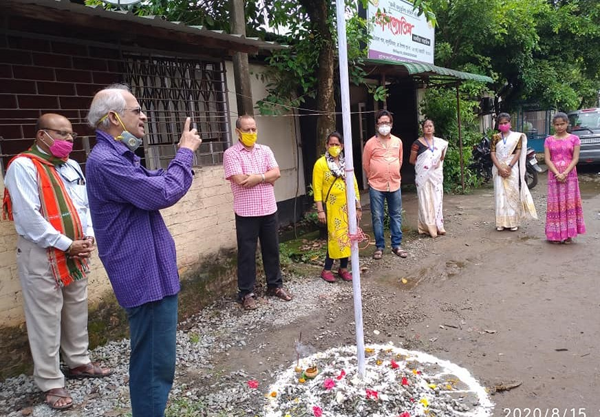 Sangbadik Sangha Purbanchal (SSP) today paid rich tributes to the martyrs of India's freedom movement on the occasion of 74th Independence Day