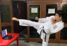 "Hanshi Premjit Sen organised a free workshop for students on "" New Modern Techniques of Karate"""