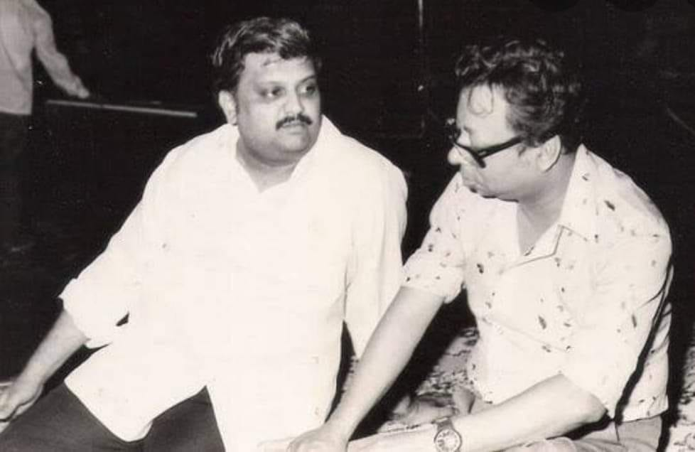 Legend S.P.Balasubrahmanyam with a musical master R.D. Burman