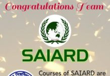 SAIRAD get Vidyasagar University Affilication