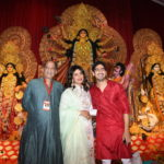 Debu Mukherjee with Priyanka Chopra and Ayan Mukherjee at North Bombay Sarbojanin Durga Puja Samiti's DURGA PUJA 2019 DSC_0213