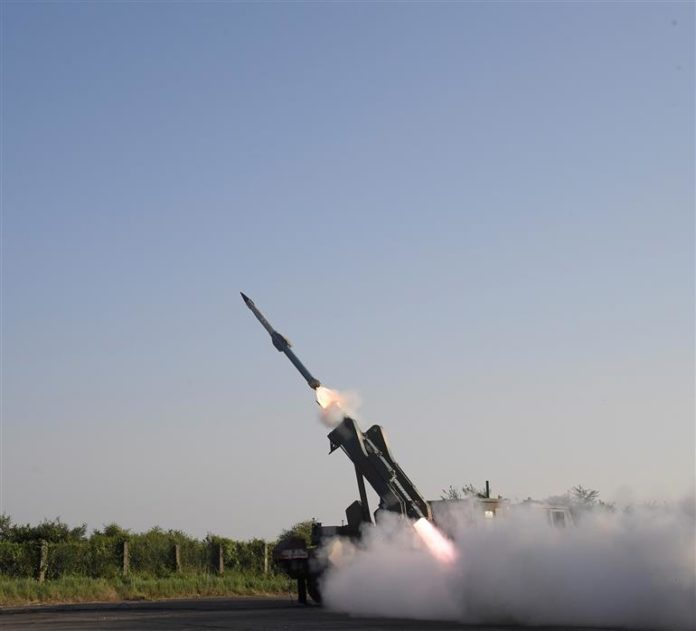Quick Reaction Surface to Air Missile (QRSAM) system successfully launched from Integrated Test Range, Chandipur off the Odisha coast, on November 13, 2020.