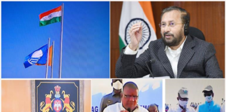 The Union Minister for Environment, Forest & Climate Change, Information & Broadcasting and Heavy Industries and Public Enterprise, Shri Prakash Javadekar virtually addressing at the hoisting of the International Blue Flag at eight beaches across the country from Paryavaran Bhawan, New Delhi on December 28, 2020.