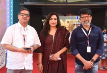 The Director of Documentary 'In Our World' Shri Shreedhar along with the ADG, Directorate of Film Festivals, Shri Chaitanya Prasad at the Red Carpet, during the 51st International Film Festival of India (IFFI-2021), in Panaji, Goa on January 18, 2021.