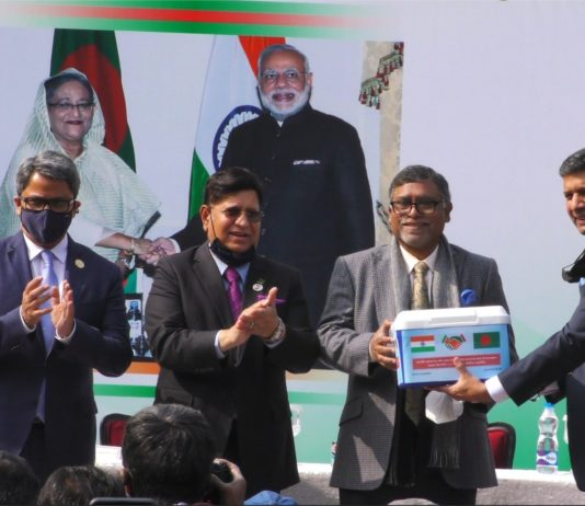 Vaccine Gifted to Bangladesh by Indian High Commission