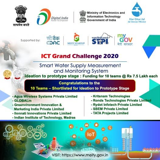 """Grand Challenge for Development of """"Smart Water Supply Measurement and Monitoring System"""""""