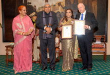 His Excellency Mr Freddy Svane, Ambassador of Denmark in India, who recently Knighted Smt Smita Bajoria, Honorary Consul General of Denmark in Kolkata, called upon The Honourable Governor of West Bengal, Shri Jagdeep Dhankh