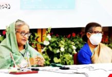 Sheikh Hasina in a meeting