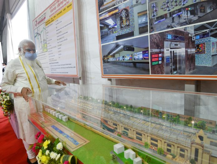 PM inaugurates several railway projects in West Bengal