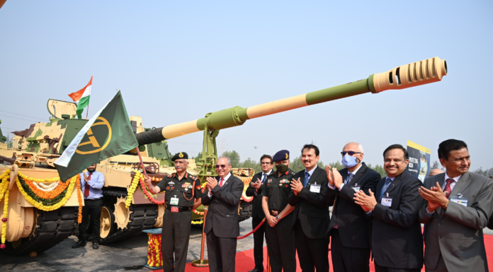 L&T-made 100th 'K9 VAJRA' flagged off by India's Chief of Army Staff General MM Naravane at L&T's Armoured Systems Complex, Hazira near Surat; this marks completion of all deliveries