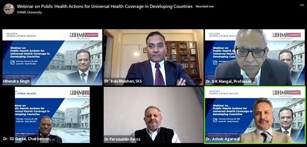 Afghanistan and India participate in IIHMR University's talk on Public Health Actions for Universal Health Coverage in Developing Countries