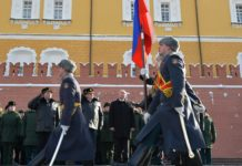 Russian President Putin laid a wreath at Tomb of Unknown Soldier on Defender of Fatherland Day