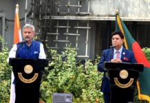 Comments by the Hon'ble Bangladesh Foreign Minister H.E. Dr. A.K. Abdul Momen, M.P. for the Joint Press Briefing with Indian External Affairs Minister Hon'ble Dr. S. Jaishankar