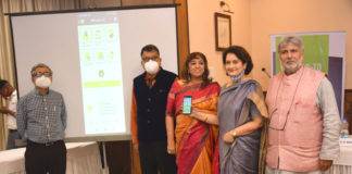 """Dr. C.S. Mukherjee, Dr. Amit Ghose, Ms. Smita Bajoria, CEO and Managing Director, Essentially Healthy Pvt Ltd (EHPL), Dr. Nandini Ray and Shri S.K. Bajoria at the launch of """"Surite"""" one-stop digital healthcare solution App in Kolkata"""