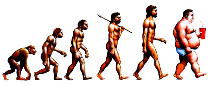 The evolution of fat man Photo by Wiki