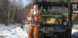 Vladimir Putin is spending the weekend in Siberia