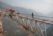 Chenab Bridge construction