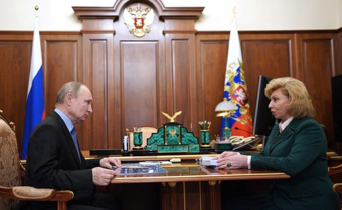 Vladimir Putin held his annual meeting with the Human Rights Commissioner Tatyana Moskalkova 2