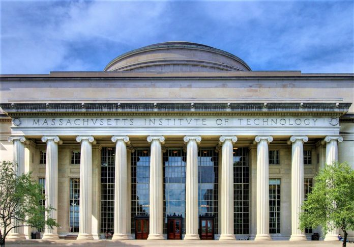 MIT's Building 10 and Great Dome overlooking Killian Court