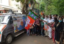 Mobile Sanitization Van for sanitizing slums in all Constituencies launched by Shri DV Sadananda Gowda at Bangalore